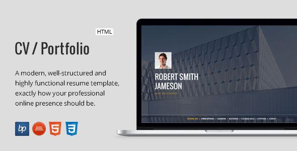 CV / Portfolio – Responsive Resume by bitpub | ThemeForest