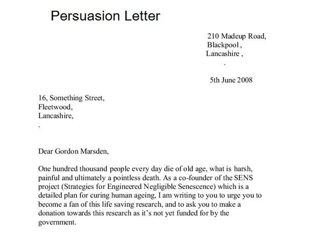 7+ Sample Persuasion Letters - Sample Letters Word
