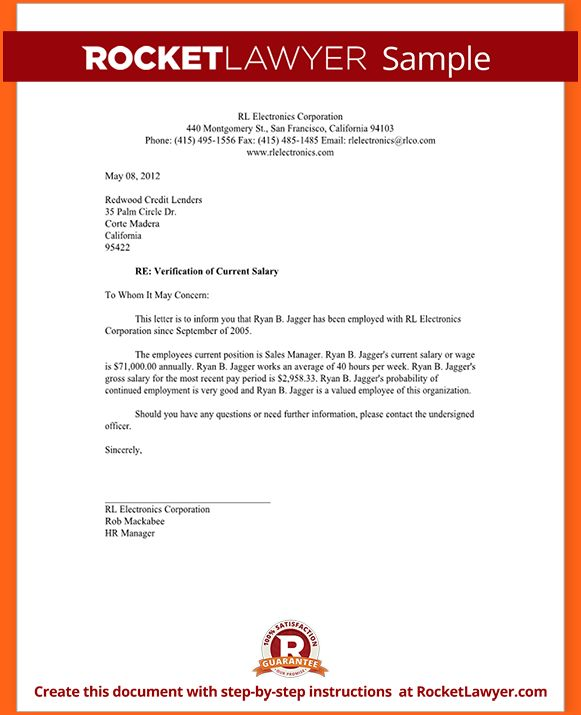 6+ Proof of income letter self employed - Budget Template Letter