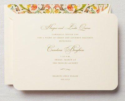 Formal Dinner Invitation - cloveranddot.Com
