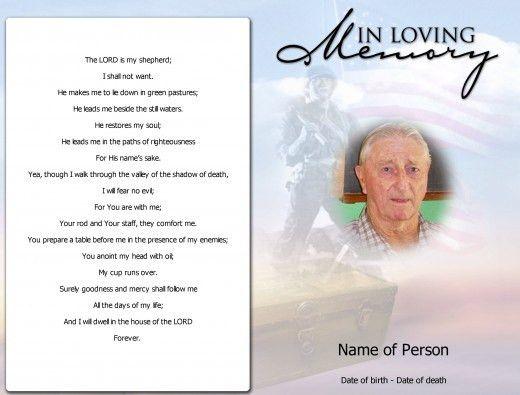 Funeral Cards Template   Thebridgesummit.co