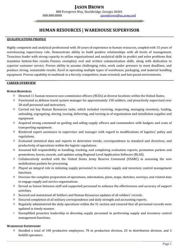 Transportation Resume Examples - Resume Professional Writers
