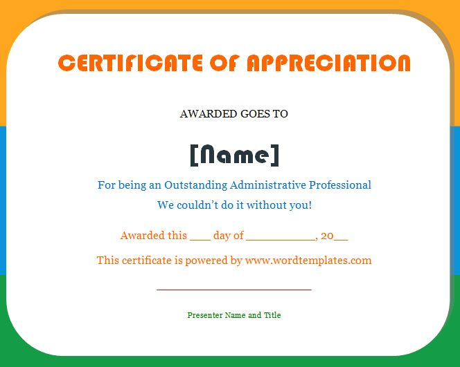 Certificate of Appreciation - Microsoft Word Templates