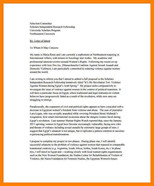 9+ letter of intent for university | packaging clerks