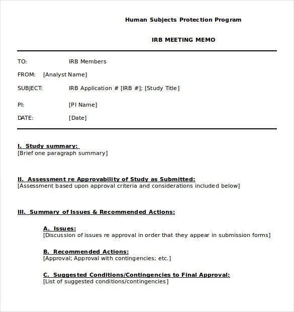 Meeting Memo Template - 10 Free Word, PDF Documents Download ...