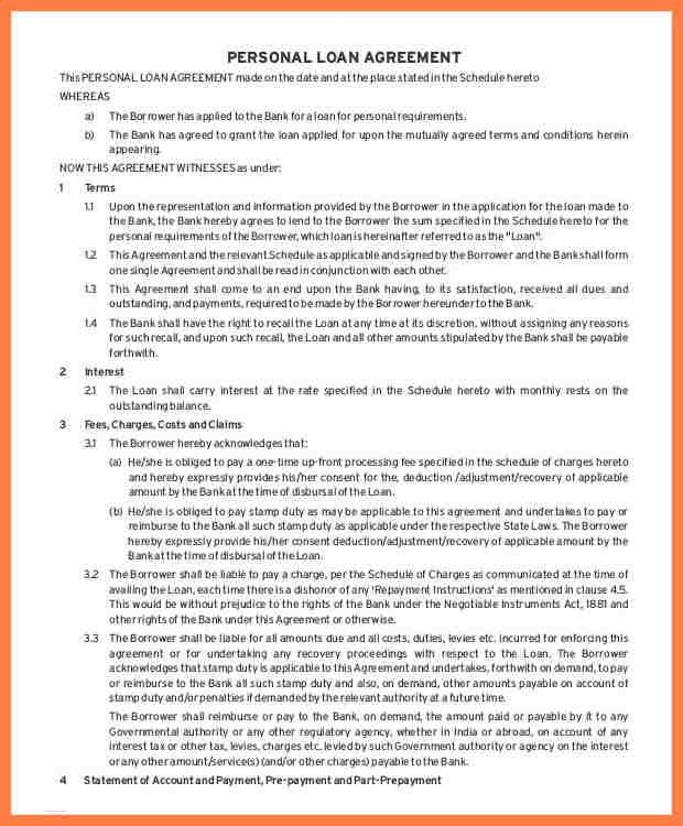 7+ intercompany loan agreement sample | Company Letterhead