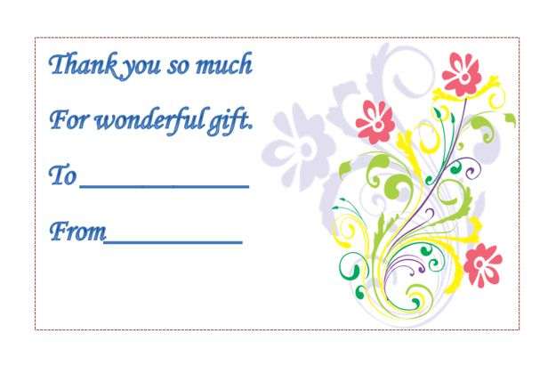 Thank You Card Template - Microsoft Word Templates