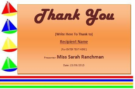 MS Word Thank you Certificate Template | Formal Word Templates