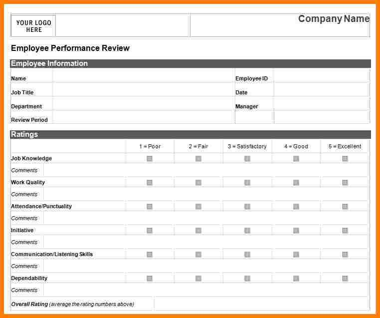6+ performance evaluation template | letter format for