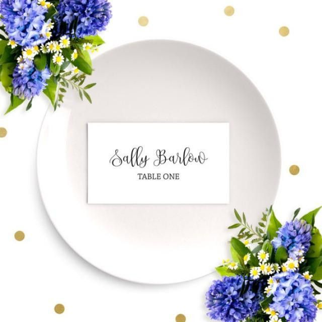 Wedding Place Cards-Chic Calligraphy Escort Cards-DIY Printable ...