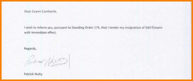 8+ short resignation letter - LetterHead Template Sample