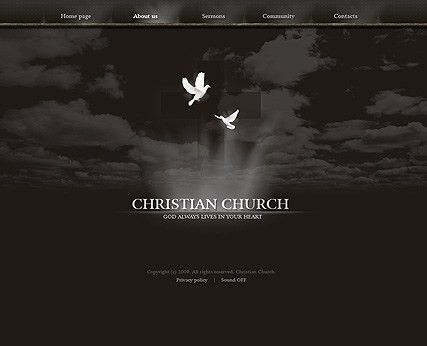 Christian church flash website template | Best Website Templates