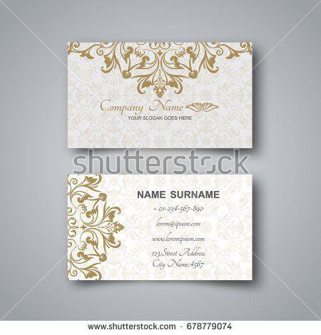 Gold Business Card Metallic Foil Texture Stock Vector 609332744 ...
