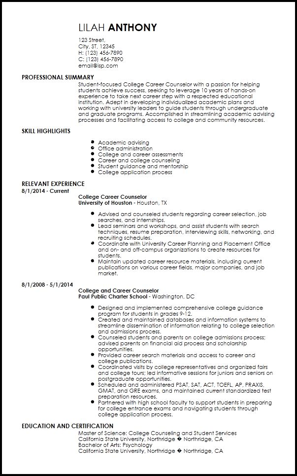 Free Creative Academic Advisor Resume Templates | ResumeNow
