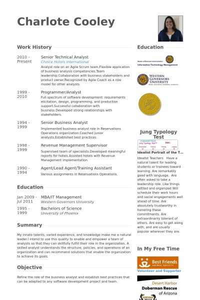 Technical Analyst Resume samples - VisualCV resume samples database