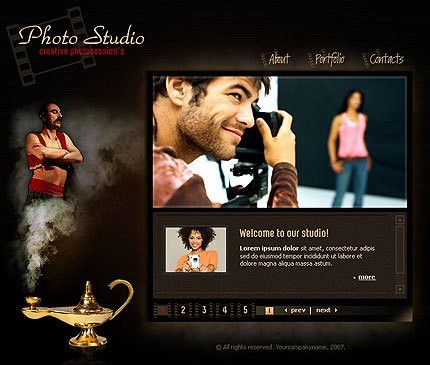 Creative Photographer Flash Template #206 best web design at ...