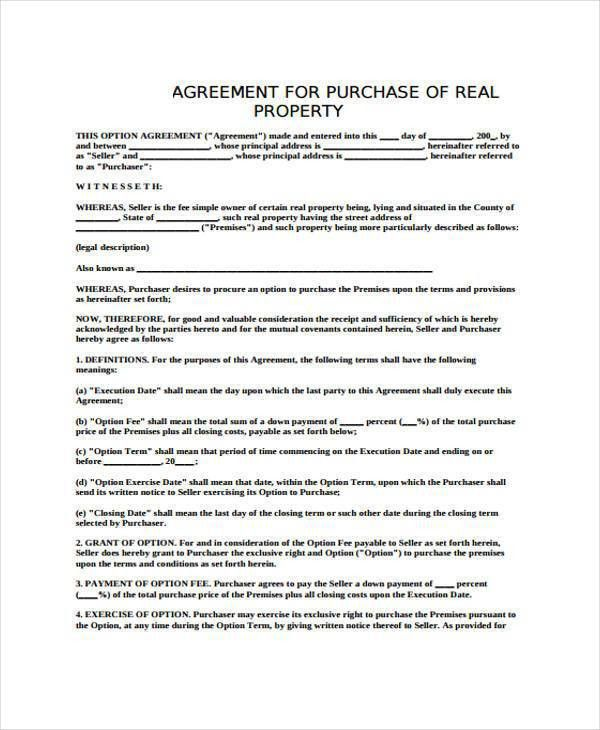 8+ Generic Purchase Agreement Form - Free Sample, Example Format ...