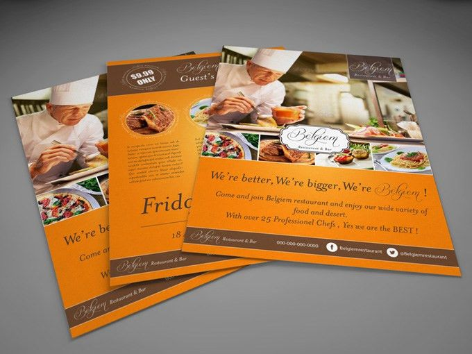 Header and Footer. Image layout. | Flyer Design Inspiration ...
