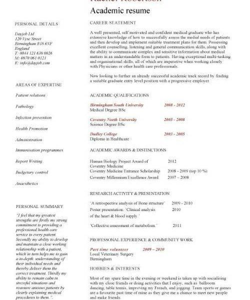 academic resume examples resume cv cover letter