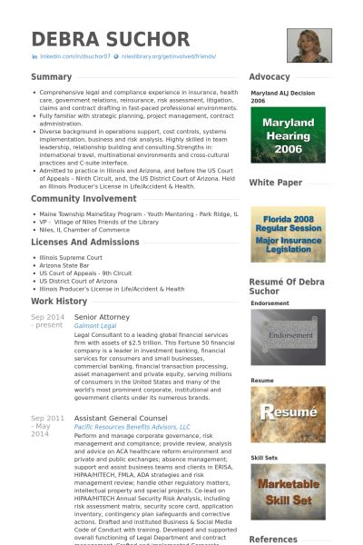 Attorney Resume samples - VisualCV resume samples database