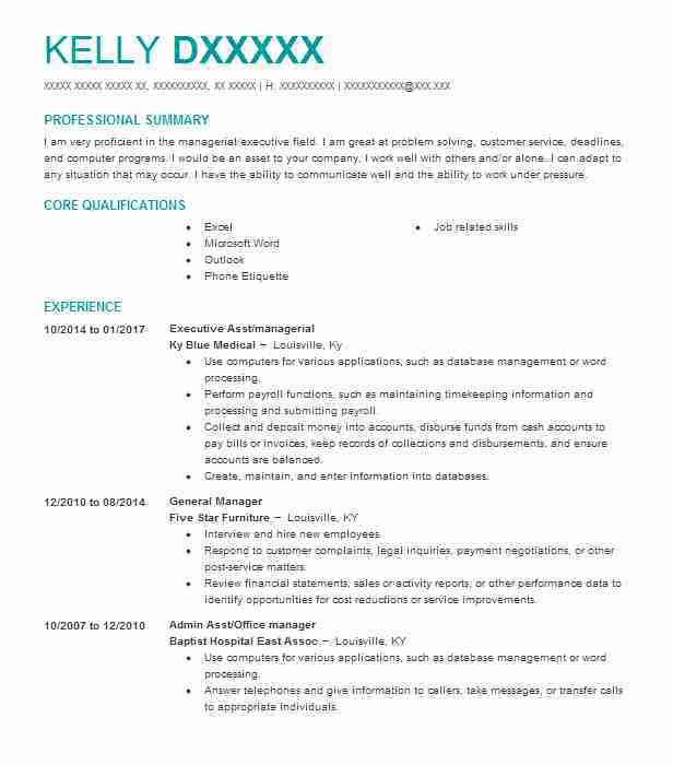 Furniture Company General Manager Resume Sample Resume Resume Sle