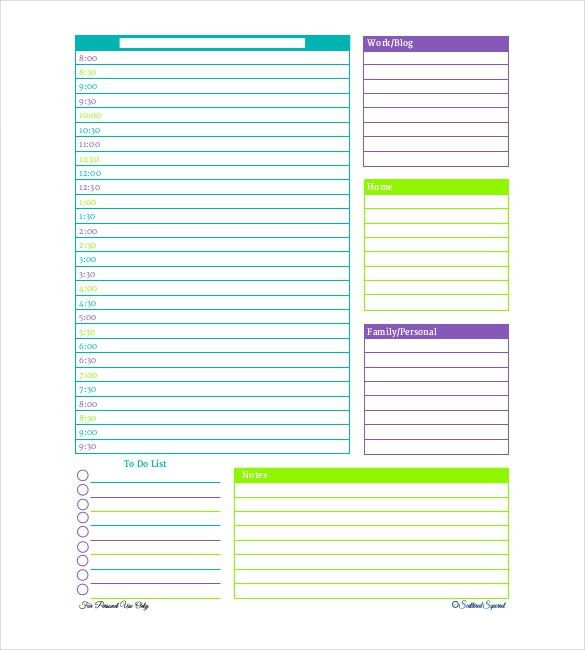 Sample Daily Agenda. Daily Event Schedule Template Agenda Planner ...