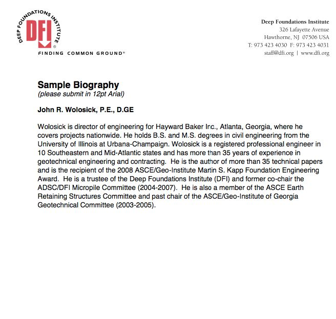 short biography samples - http://resumesdesign.com/short-biography ...