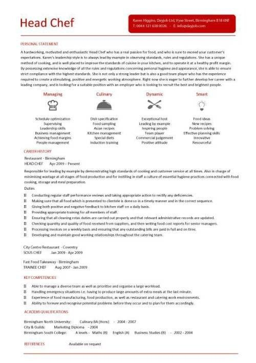 executive sous chef sample resume letter of reference for an ...