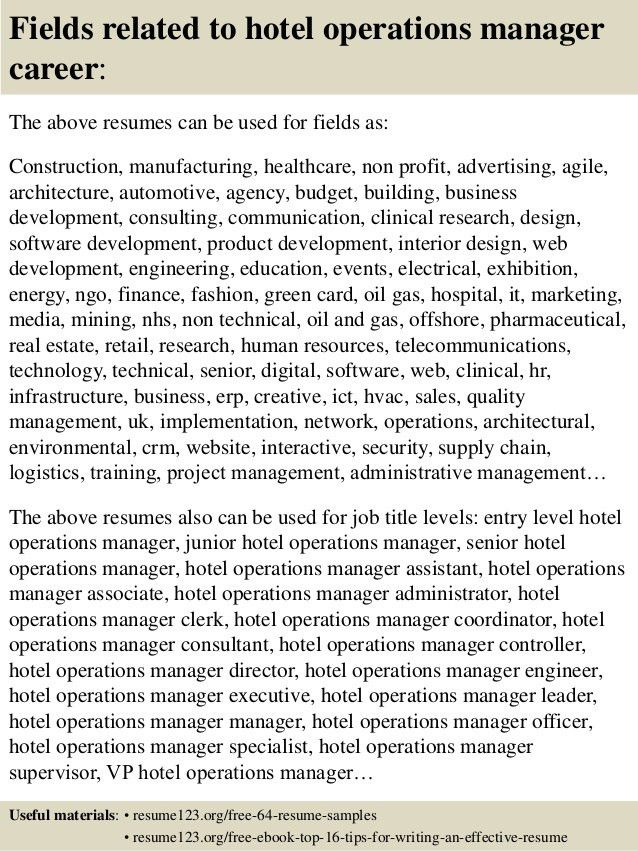 resume of operations manager business operations manager resume ...