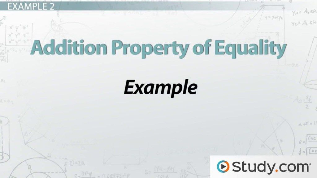 Transitive Property of Equality: Definition & Example - Video ...