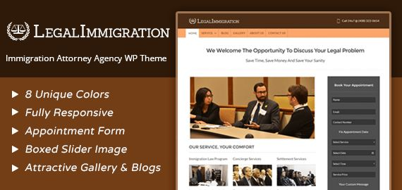 Immigration Attorney & Agency WordPress Theme | InkThemes