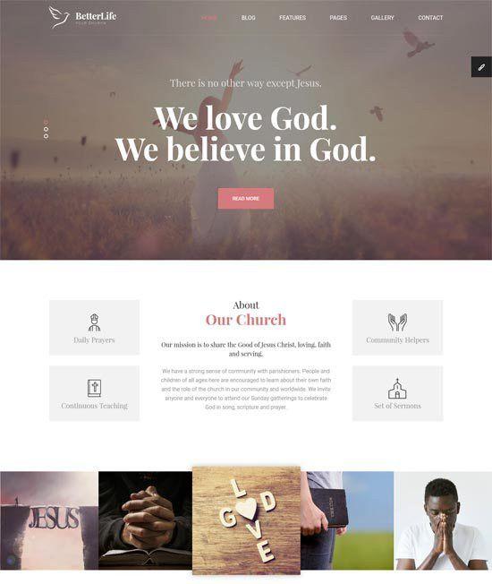 30+ Best Church Website Templates Free & Premium - freshDesignweb