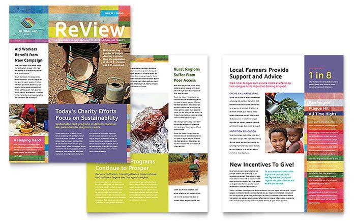 Humanitarian Aid Organization Newsletter Template - Word & Publisher