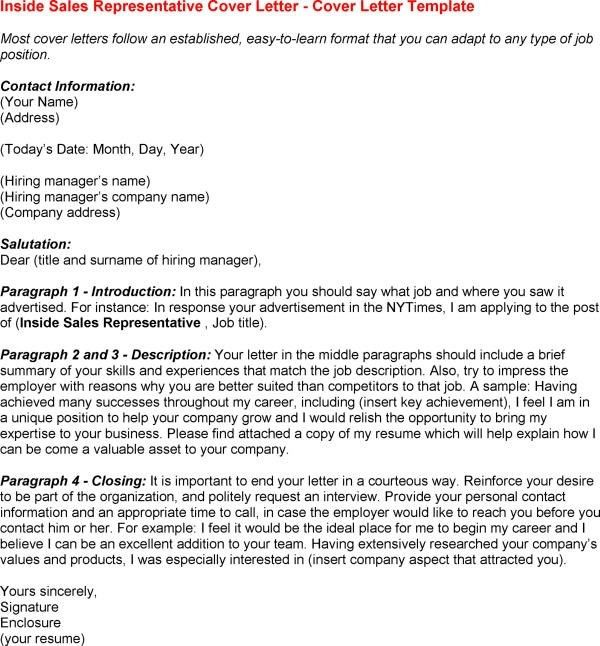 Basic Sales Representative Cover Letter Samples And Templates ...