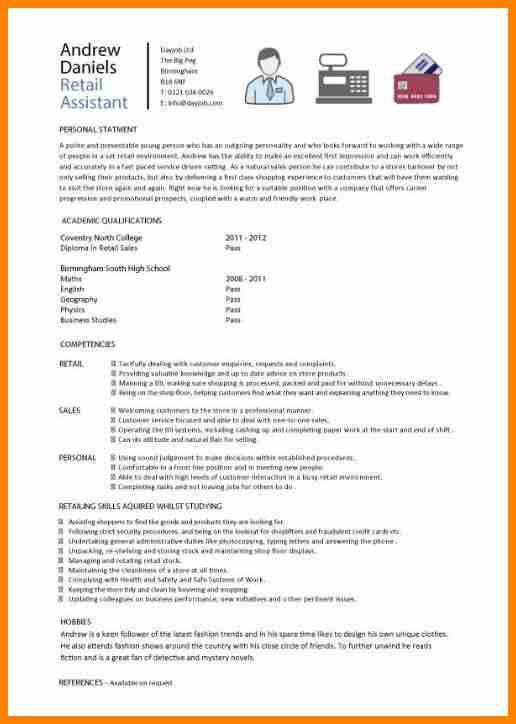 10+ cv for retail assistant with no experience - mail clerked