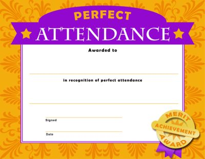 Image: Perfect Attendance | Christian Template and Frames ...
