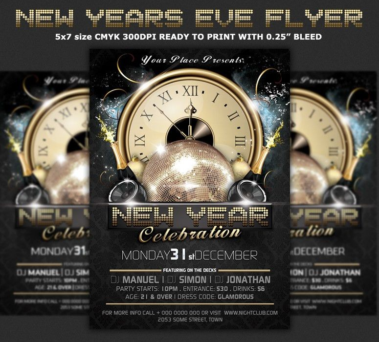 Free New Years Eve Flyer Template Download The Best Free New Year