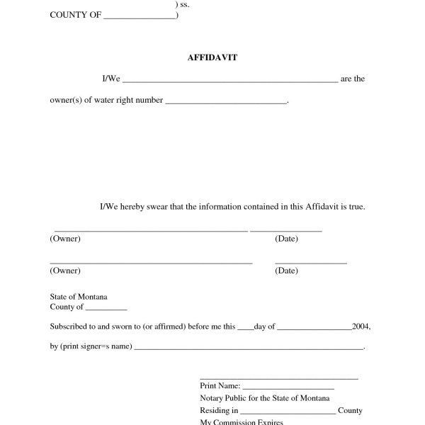 Affidavit Of Sworn Statement | Jobs.billybullock.us