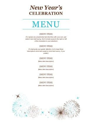 Dinner Party Menu Template | Template Idea