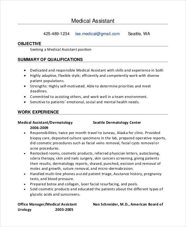 Sample Objective for Resume - 8+ Examples in PDF, Word