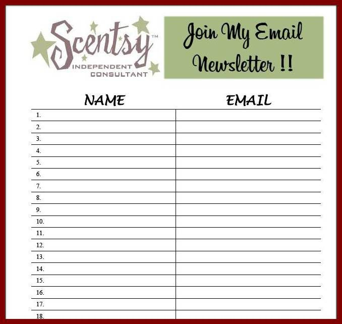 11+ sign up list template | sendletters.info