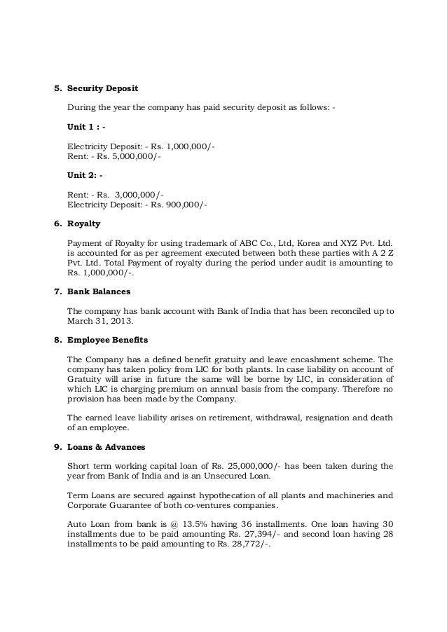 Sample Management Representation Letter