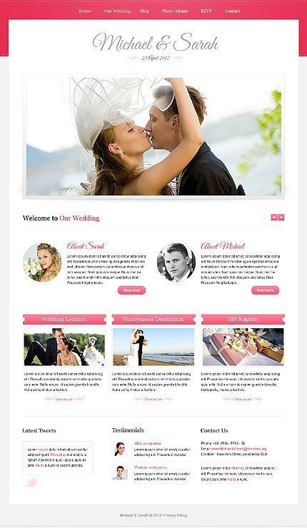 35 best Wedding Website Design images on Pinterest | Wedding ...
