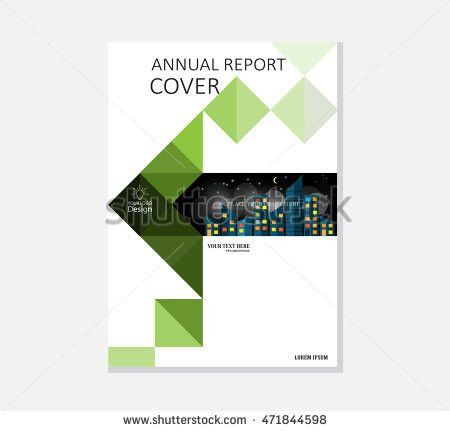 Brochure Template Cover Design Annual Report Stock Vector ...