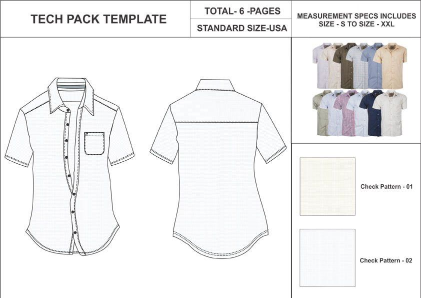 Tech Pack Template Soccer Jersey and Pant.