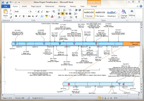 Timeline Templates for Word