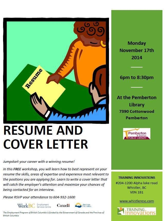 Free Resume and Cover Letter Writing Workshop, Monday November 17 ...