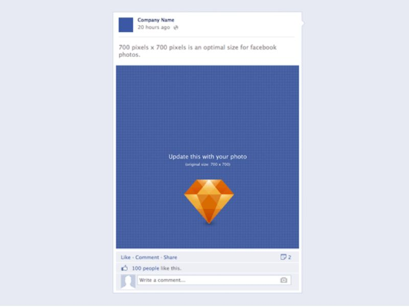 Facebook Post Sketch freebie - Download free resource for Sketch ...