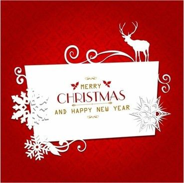 2016 free christmas greeting card template free vector download ...