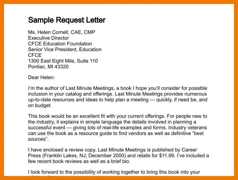 7+ examples of formal letters of request | mailroom clerk